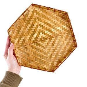 Octagon Wicker Basket - Basket Wall Art